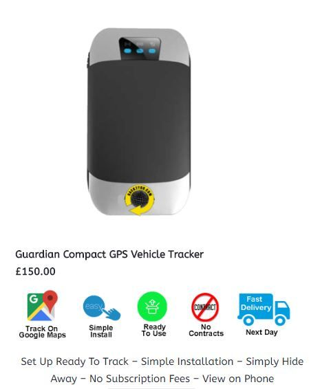 Guardian Compact GPS Vehicle Tracker